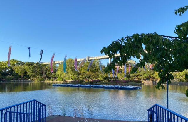 千葉公園の貸し出しボート入り口